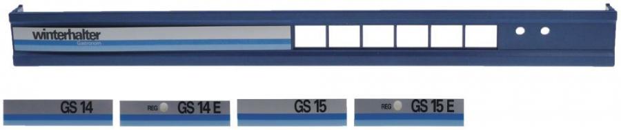 schalterblende gs14 15 l 598mm b 30mm h 57mm 5 gastrotiger. Black Bedroom Furniture Sets. Home Design Ideas