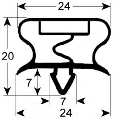 Kältedichtung Profil 9156 B 569 mm L 1.295 mm Steckmaß